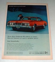 1966 Oldsmobile Delmont 88 Car Ad - Fine Car Features - $14.99