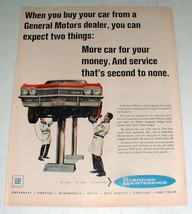 1967 General Motors Ad w/ Chevrolet Car! - $14.99