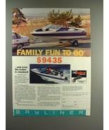 1988 Bayliner 1750 Capri Bowrider Boat Ad - Family Fun - $14.99