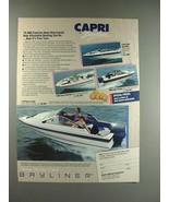 1987 Bayliner 1700 Capri Cuddy Boat Ad - Affordable - $14.99