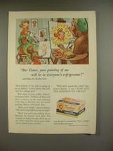 1955 Borden's Vanilla Ice Cream Ad - Elsie the Cow - $14.99