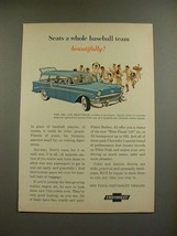 1956 Chevrolet Bel Air Beauville Ad - Baseball Team! - $14.99