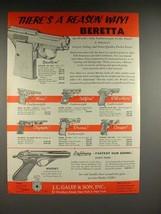 1957 Beretta Bantam, Olympic, Cougar, Puma, Gun + Ad! - $14.99
