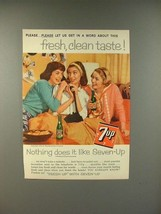 1959 7-Up Soda Ad - Fresh, Clean Taste! - $14.99