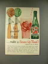 1961 7-up Soda Ad - Do Yourself a Flavor! - $14.99