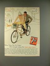 1961 7-up Soda Ad - Daisy, Daisy Not-so-Crazy! - $14.99