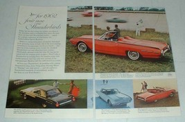 1962 Ford Thunderbird Ad: Sports Roadster, Convertible - $14.99