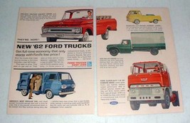 1962 Ford Truck Ad: Styleside Pickup, Van, Econoline + - $14.99