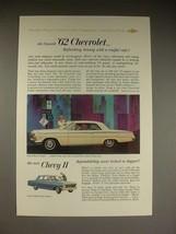 1962 Chevrolet Impala Sport Coupe Chevy II 300 Sedan Ad - $14.99