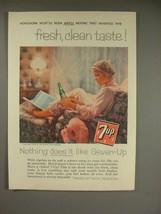 1958 7-up Soda Ad - Fresh, Clean Taste - $14.99
