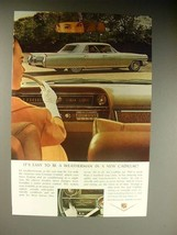 1964 Cadillac Car Ad - Easy to be a Weatherman - $14.99