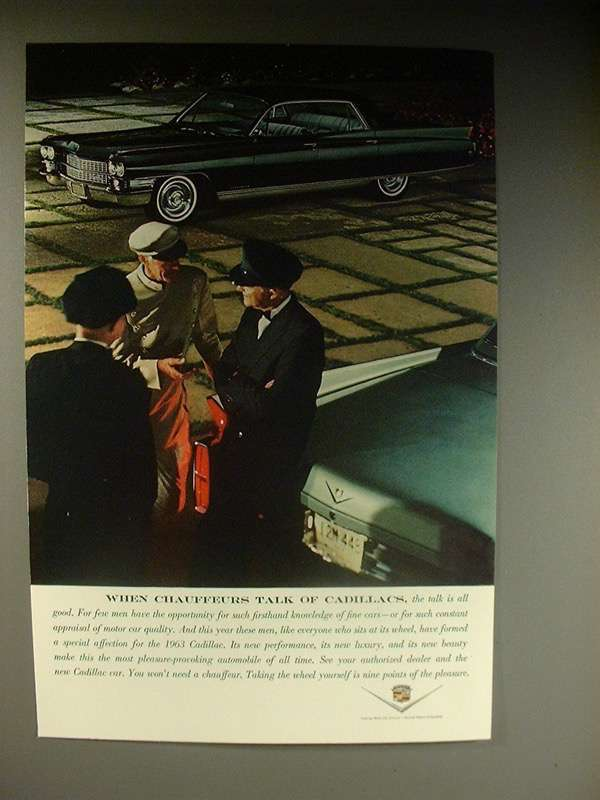 1964 Cadillac Car Ad - When Chauffeurs Talk