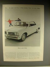 1963 Pontiac LeMans Hardtop Car Ad - Were Such a Thing - $14.99