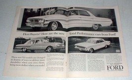 1964 Ford Galaxie 500, Fairlane 500, Falcon Futura Ad - $14.99