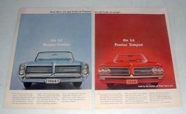 1964 Pontiac Bonneville, Tempest Car Ad! - $14.99