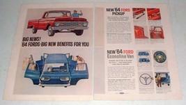 1964 Ford Pickup Truck, Econoline Van Ad - Big News! - $14.99