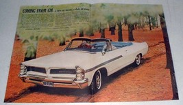 1963 Pontiac Bonneville Convertible Car Ad! - $14.99