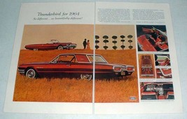 1964 Ford Thunderbird Car Ad - So Beautifully Different - $14.99