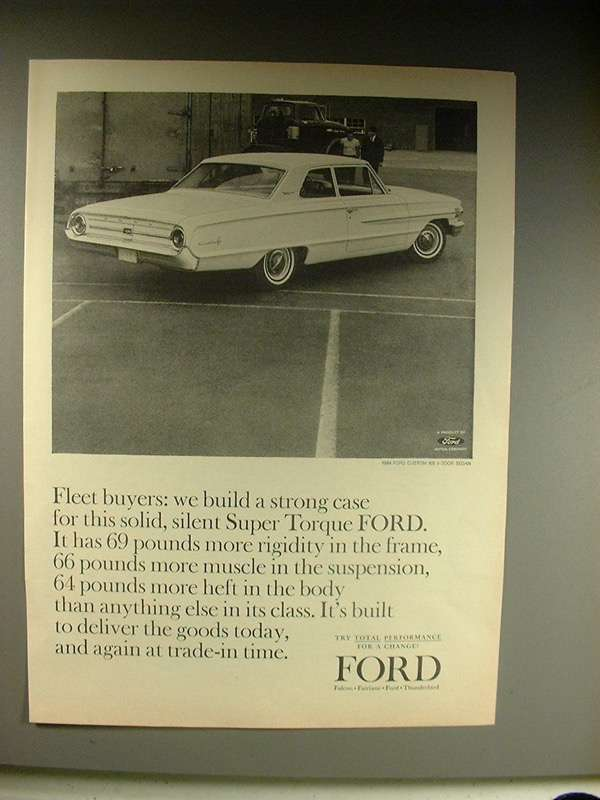 Primary image for 1964 Ford Custom 500 2-Door Sedan Car Ad!