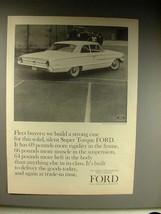 1964 Ford Custom 500 2-Door Sedan Car Ad! - $14.99
