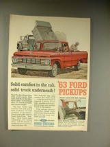 1963 Ford F-100 Pickup Truck Ad - Solid Comfort! - $14.99