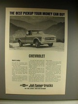 1963 Chevrolet 3/4-ton Fleetside Pickup Truck Ad! - $14.99