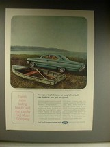 1964 Ford Galaxie 500 Car Ad - More Lasting Beauty - $14.99