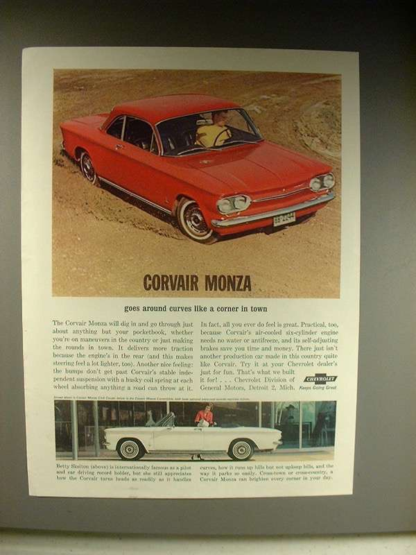 Primary image for 1963 Chevrolet Corvair Monza: Coupe, Convertible Ad