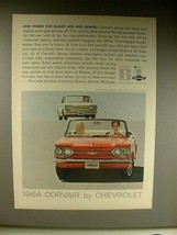 1964 Chevrolet Corvair Monza Convertible, Coupe Car Ad - $14.99