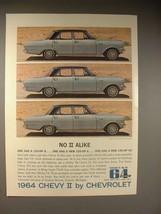 1964 Chevy II Nova 6-passenger 4-Door Sedan Car Ad - $14.99