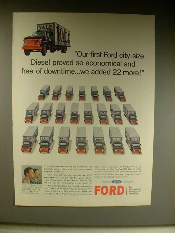 1963 Ford N-7000 Diesel Truck Ad - So Economical!