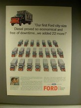 1963 Ford N-7000 Diesel Truck Ad - So Economical! - $14.99