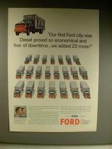 1963 Ford N-7000 Diesel Truck Ad - So Economical! - $14.99