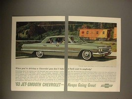 1963 Chevrolet Impala Sport Sedan Car Ad! - $14.99