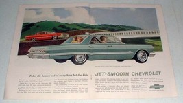 1963 Chevrolet Bel-Air Sedan, Impala Sport Sedan Car Ad - $14.99