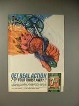 1964 Seven 7-Up Soda Ad - $14.99