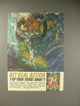 1964 Seven 7-Up Soda Ad - Diver - Get Real Action - $14.99