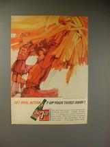1964 Seven 7-Up Soda Ad - Cheerleaders - $14.99