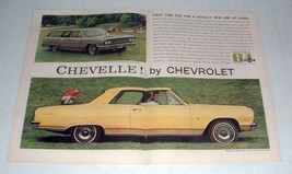 1964 2-pg Chevrolet Chevelle Malibu Super Sport Coupe Car Ad - $14.99