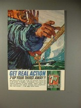 1964 Seven 7-Up Soda Ad - Real Action - $14.99