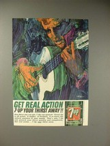1964 Seven 7-Up Soda Ad - Get Real Action - $14.99