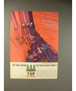 1964 Seven 7-Up Soda Ad - 7-up Your Thirst Away - $14.99