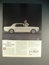 1964 Ford Mustang Hardtop Car Ad! - $14.99