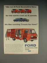 1965 Ford Econoline Van Ad - Run 3 for Same Cost as 2 - $14.99
