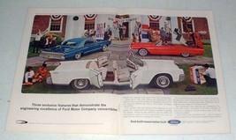 1964 Ford Thunderbird, Lincoln, Mercury Monterey Ad - $14.99