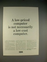 1965 IBM System/360 Computer Ad - Low-Priced - $14.99