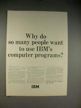 1965 IBM Systerm/360 Computer Ad - So Many People - $14.99