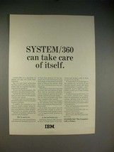 1965 IBM System/360 Computer Ad - Take Care of Itself - $14.99