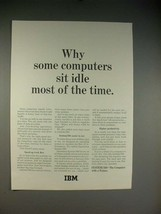 1965 IBM System/360 Computer Ad - Some Sit Idle - $14.99