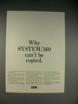 1965 IBM System/360 Computer Ad - Can't be Copied - $14.99